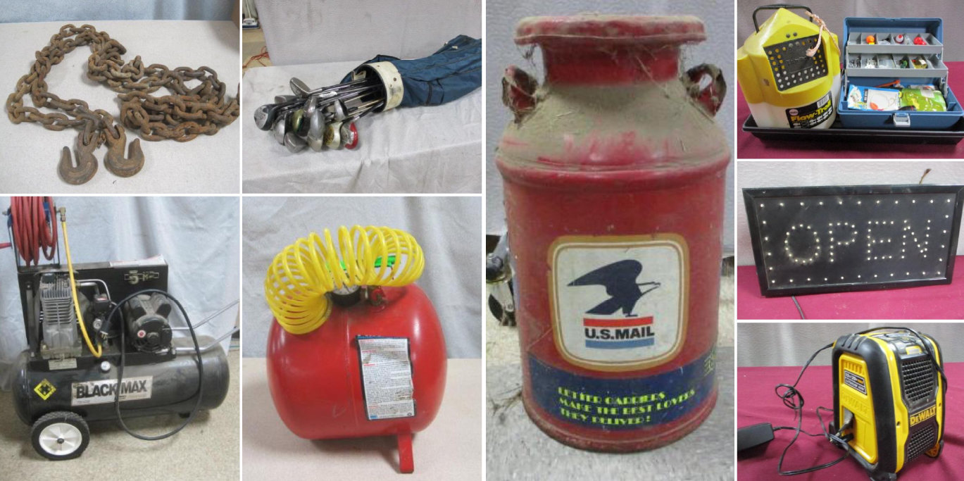 Collectibles, Household, Shop Supplies, Home Improvements and More Consignment Auction