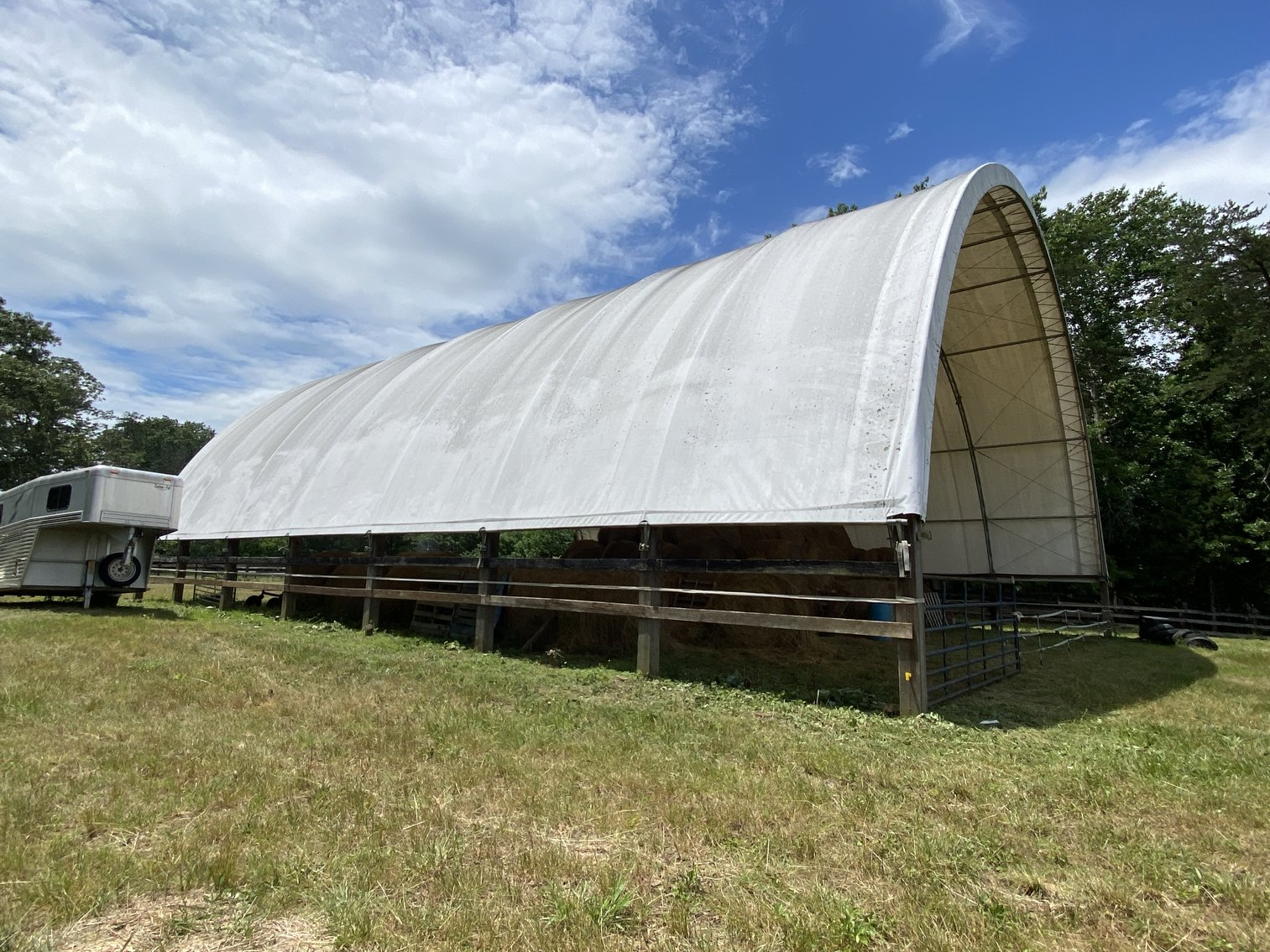 12 +/- Acre Parcel w/62'x70' Clear Span Building & Fencing in Orange County, VA