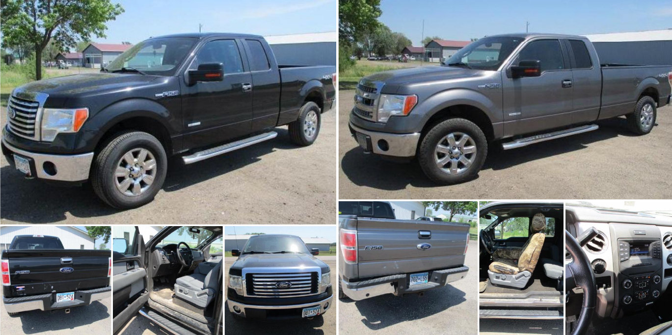 2008 Ford 550 1-Ton Dually, 2012 and 2014 Ford F-150 4X4 Extended Cab
