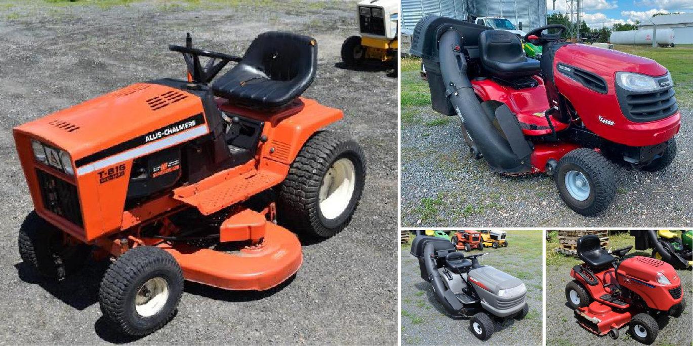 (5) Riding Lawn Mowers: Allis Chalmers T-816, Cub Cadet 17300, Toro LX500, Craftsman LT1000 & WS4500