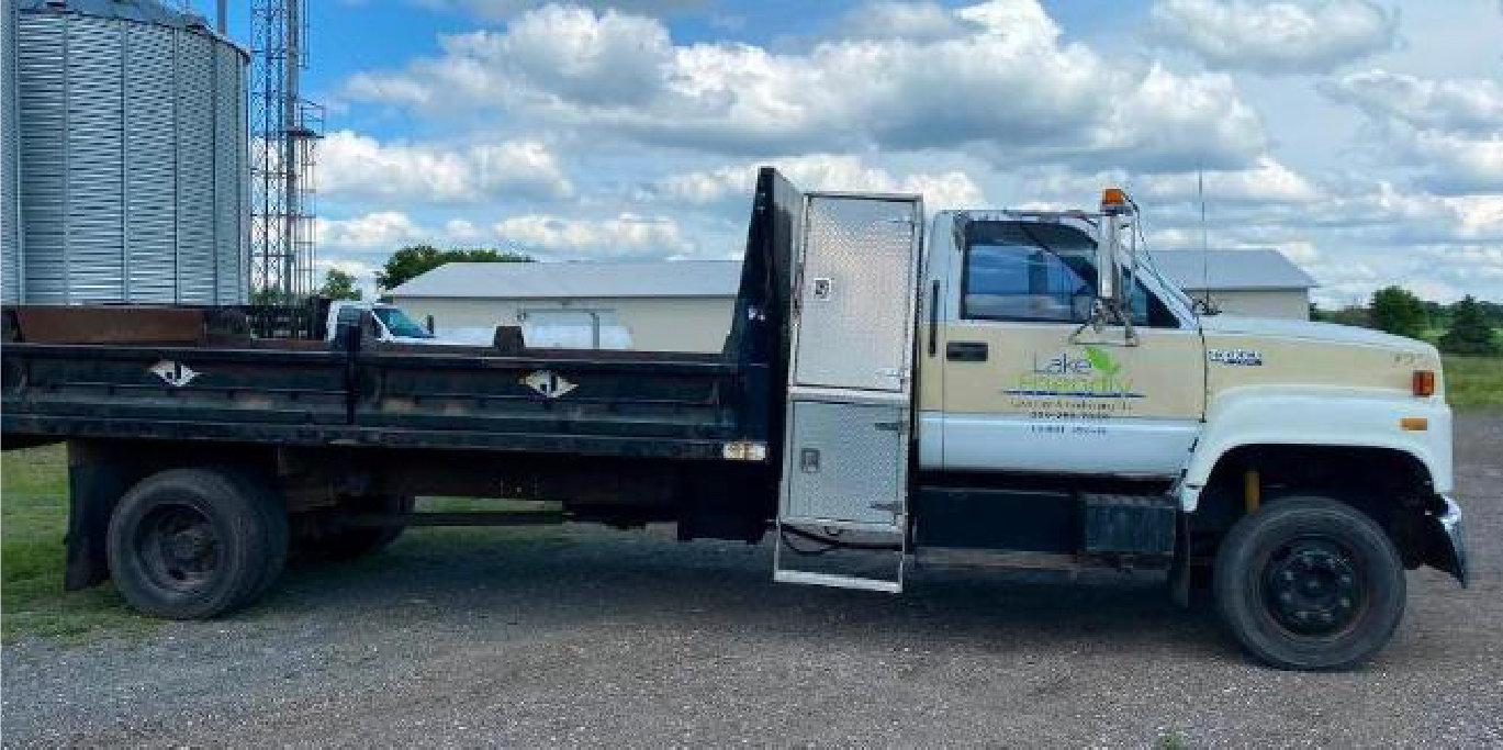 1994 GMC Kodiak With 14' J Craft Contractors Dump Bed