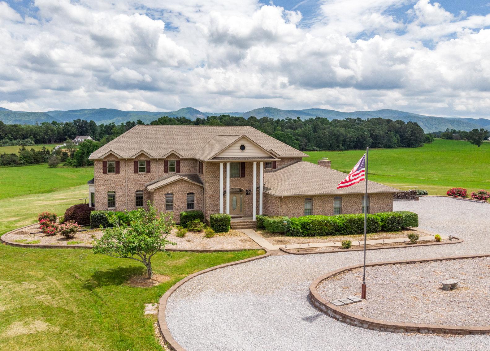 Custom 3 BR/3 BA Home on 14.5 +/- Acres w/Amazing Blue Ridge Mountain Views--Augusta County, VA