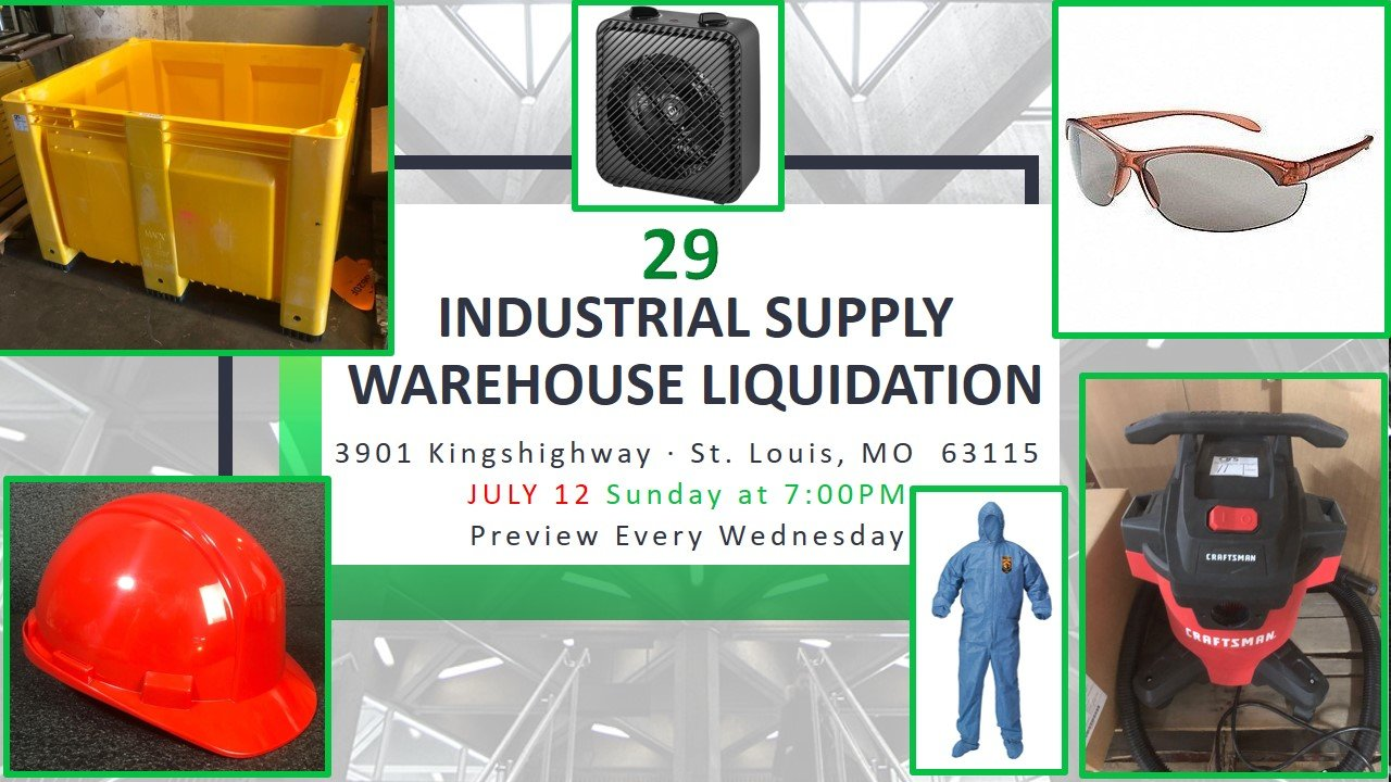 Industrial Supply Warehouse Liquidation #29