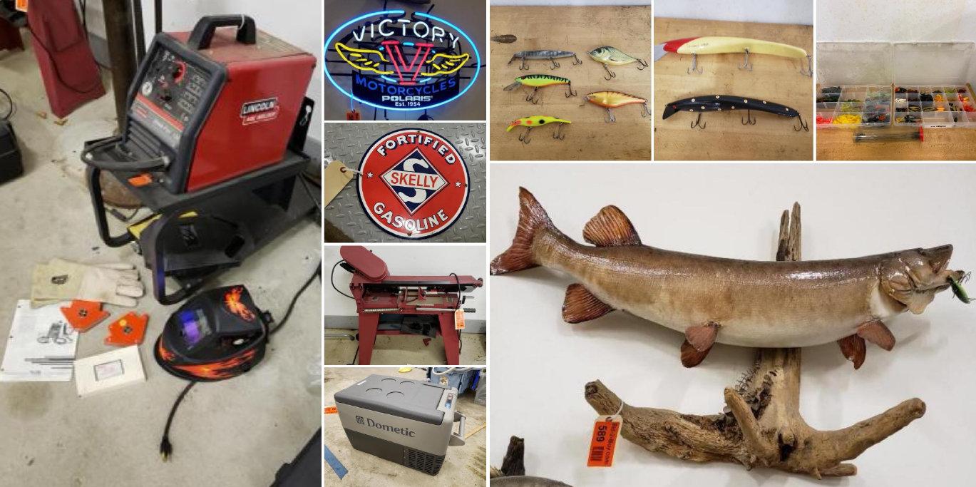 Extensive Fishing, Automotive Tools, Camping, (2) 4-Post Car Lifts & Aluma Trailer