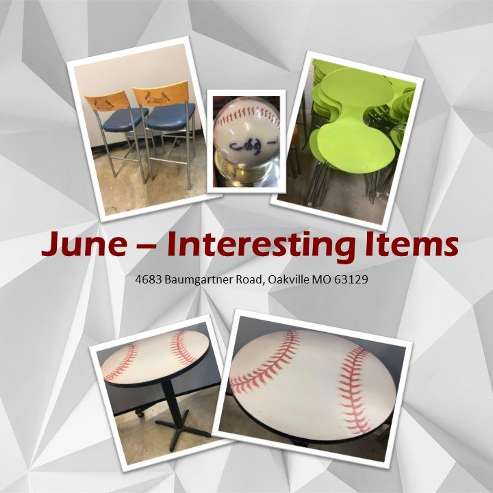 June Interesting Items - Baseball Edition