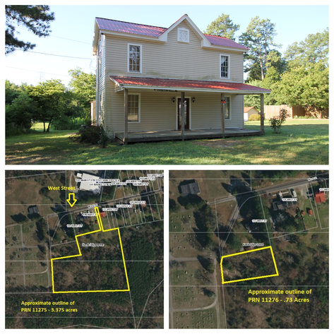 3 BR/1 BA Home on .3 +/- Acre Lot AND Adjacent 3.2 +/- Acre & .7 +/- Acre Lots--SELLS to the HIGHEST BIDDER!!