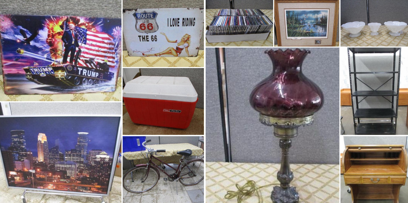 Furniture, Collectibles, Signs, Shop Supplies, Hardware, Lawn and Garden, Household & More