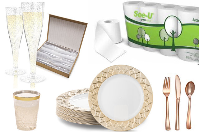 Caterer Quality Disposable Tableware, Bath Tissue & Much More
