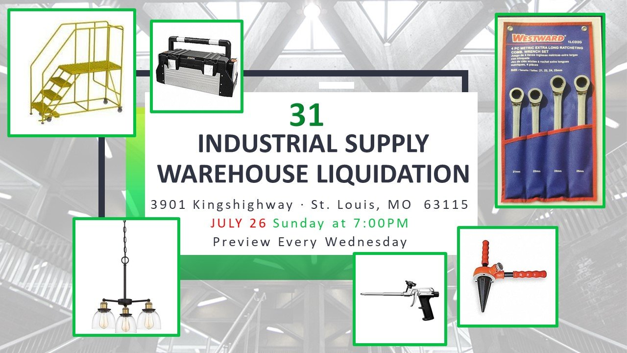 Industrial Supply Warehouse Liquidation #31
