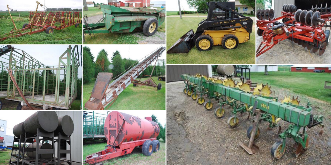 Tom and Mary Sonnek Machinery & Farm Related Equipment