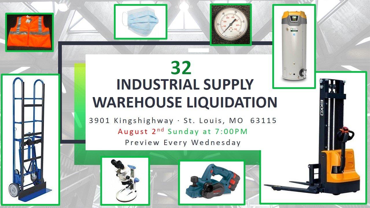 Industrial Supply Warehouse Liquidation #32