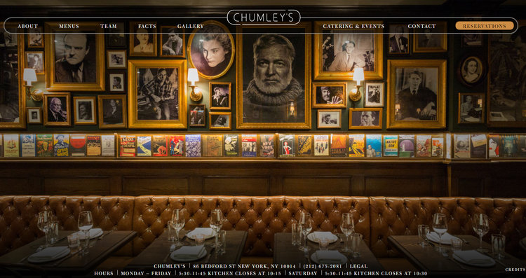 Restaurant Equipment & Collection of Literary Author Portraits