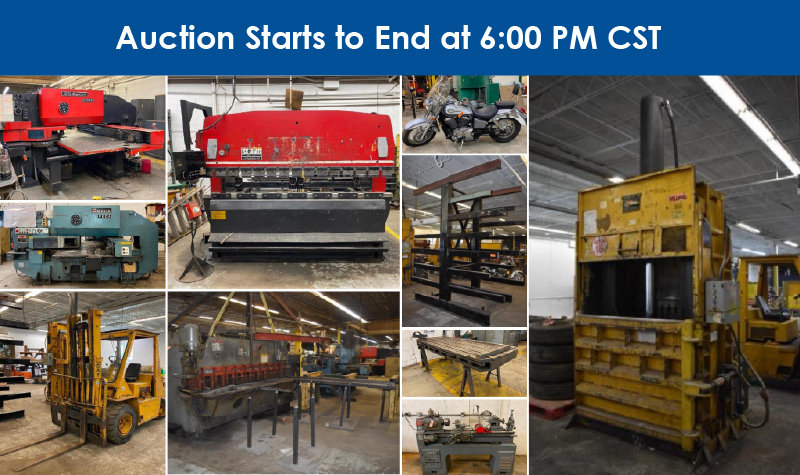 Job Shop Retirement Auction: Lightly Used Well Maintained Equipment