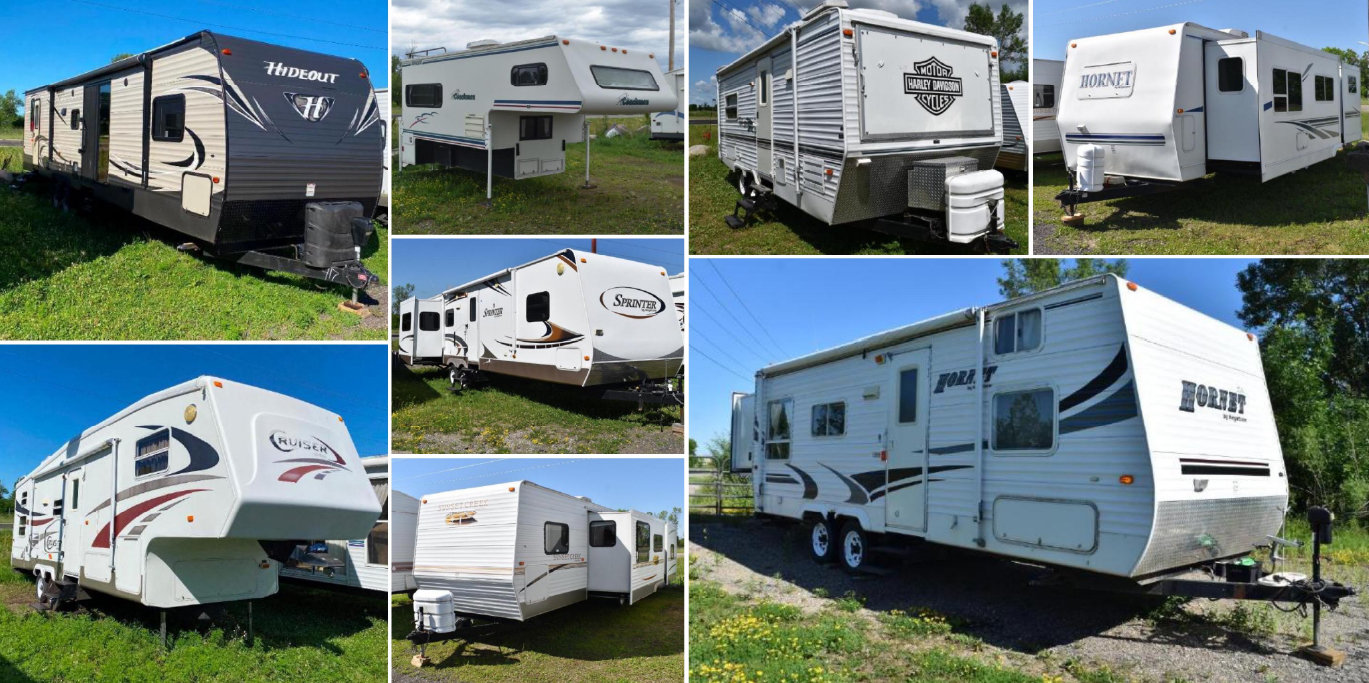 23 Units: Toy Hauler, Pickup Topper, (5) 5th Wheels & (16) Travel Trailers