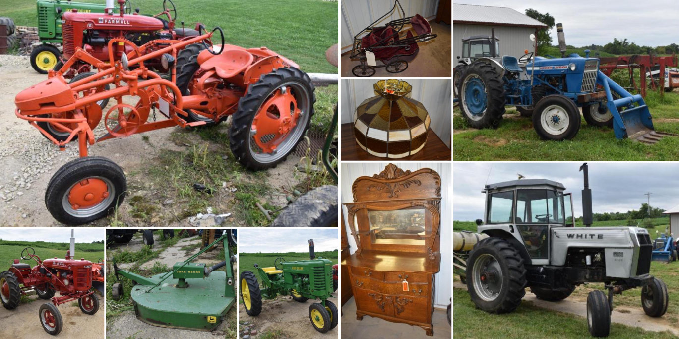 Moving Auction: Tractors, Antiques, Tools