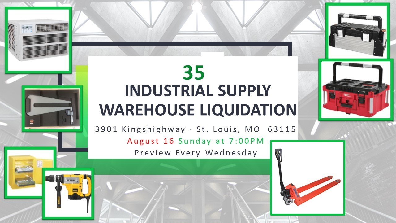 Industrial Supply Warehouse Liquidation #35