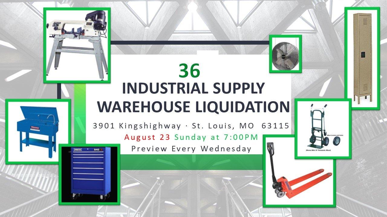 Industrial Supply Warehouse Liquidation #36