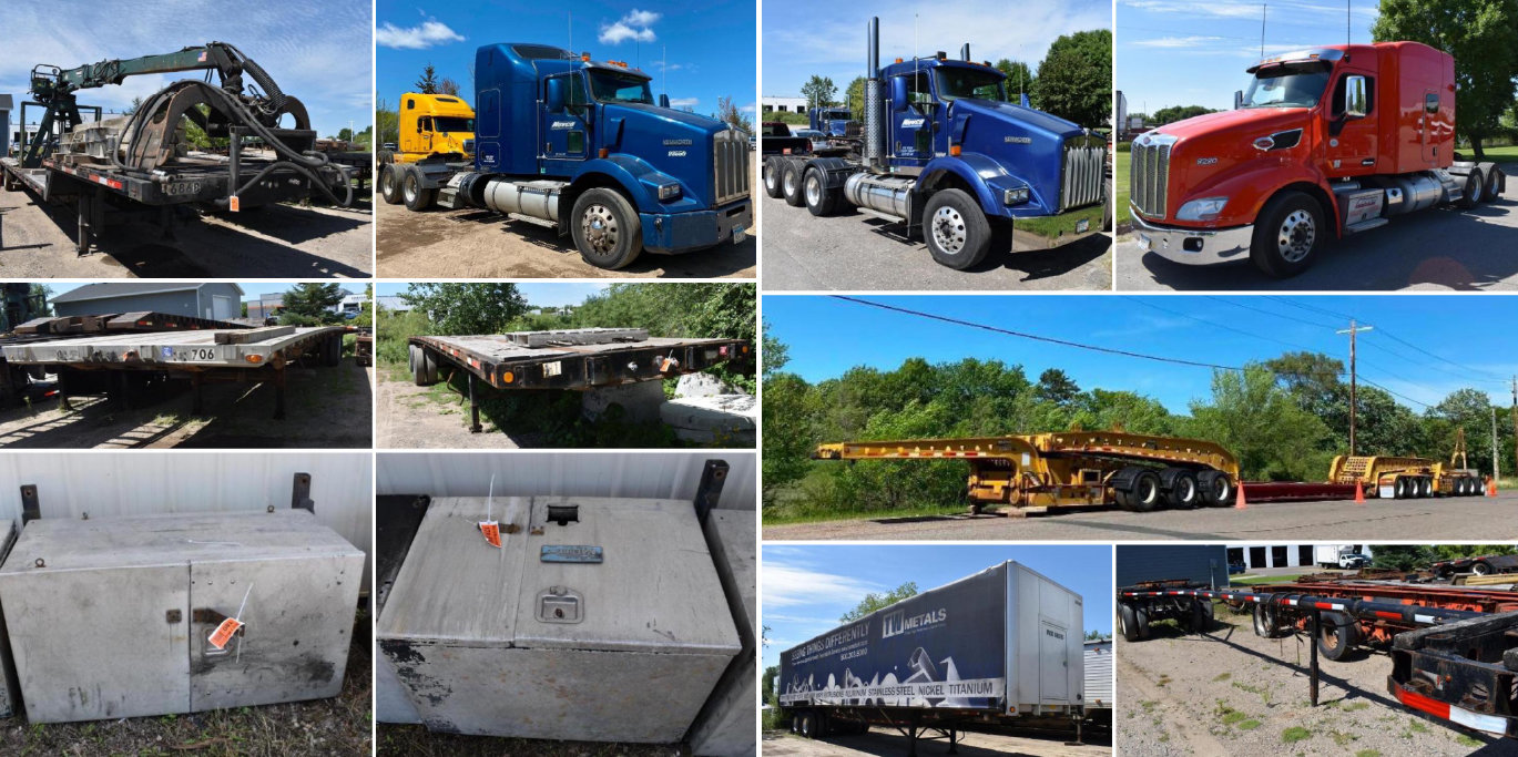 Surplus to Ongoing Operations: Semis, Trailers & Truck Equipment