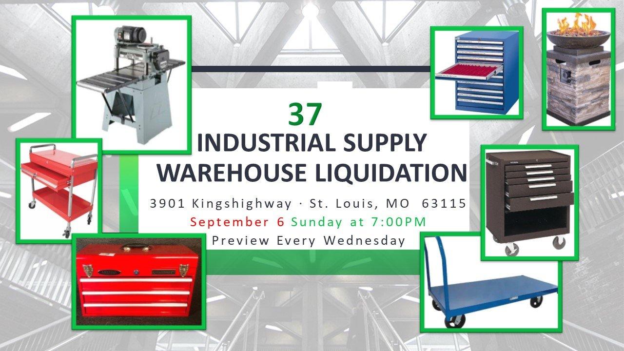 Industrial Supply Warehouse Liquidation #37