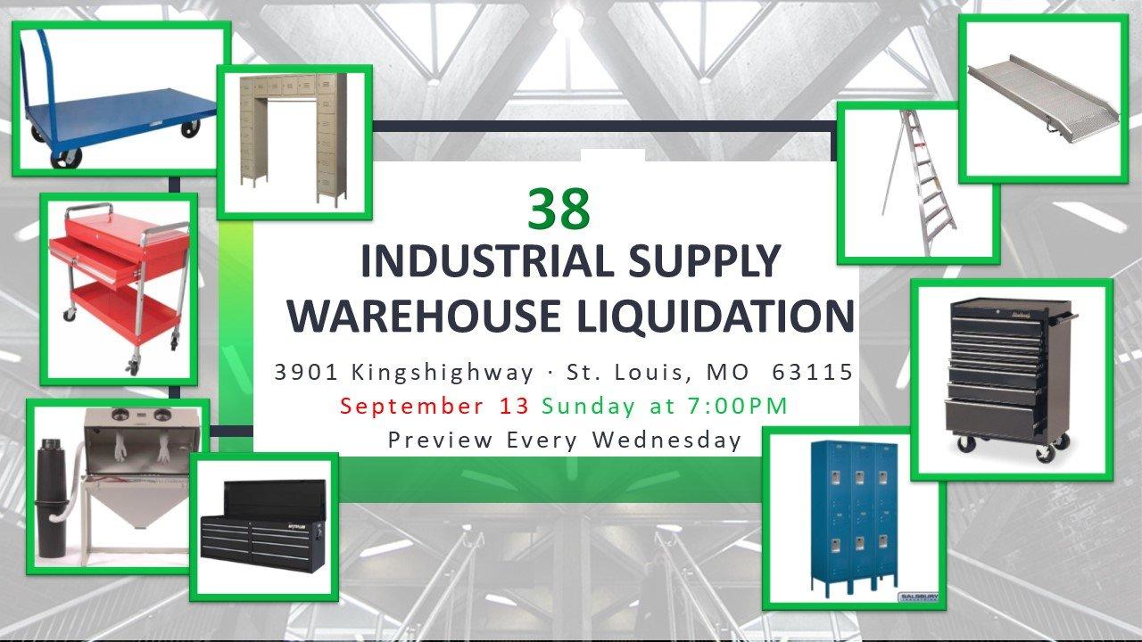 Industrial Supply Warehouse Liquidation #38