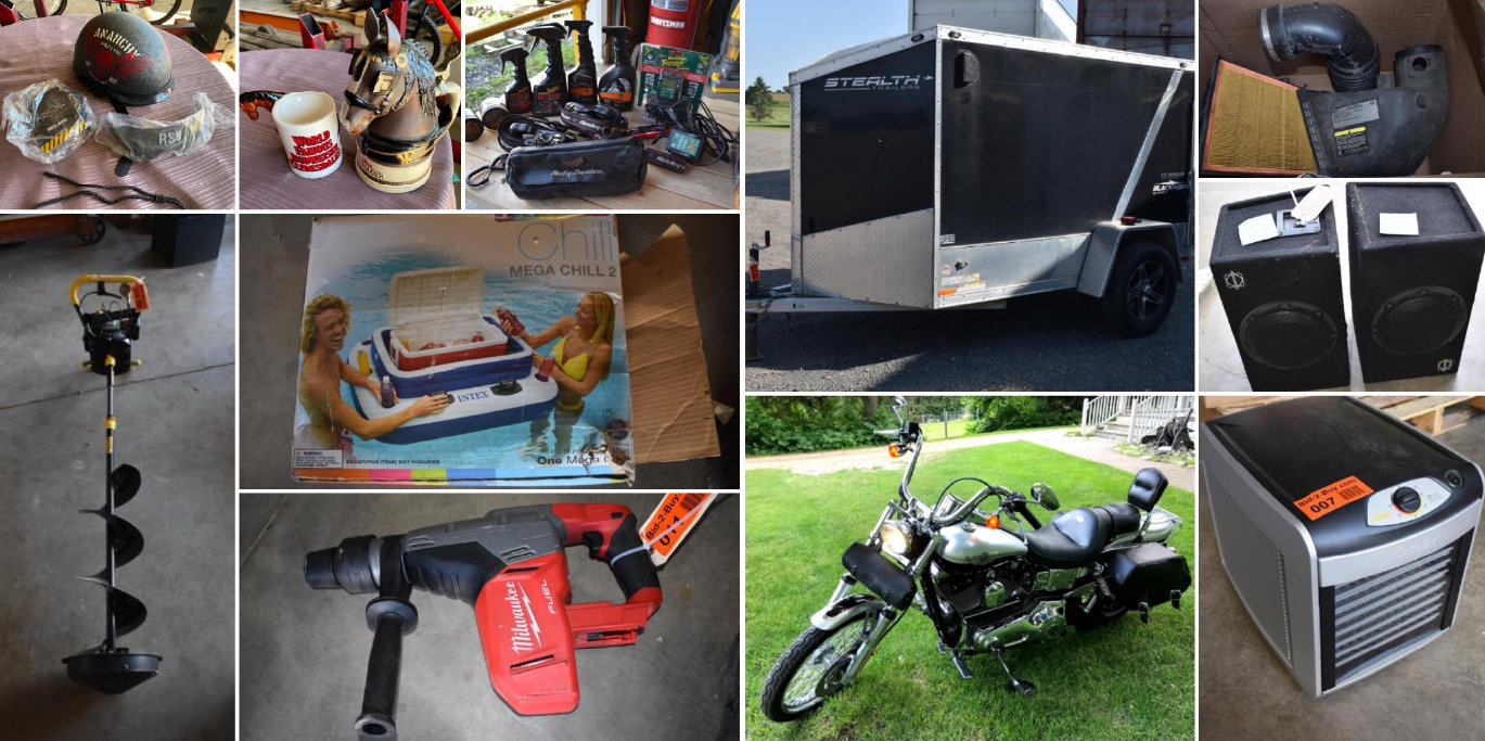 2003 Harley Davidson Dyna Wide Glide, 2014 Stealth Blackhawk Enclosed Trailer, Halloween Decor, Tools, & More