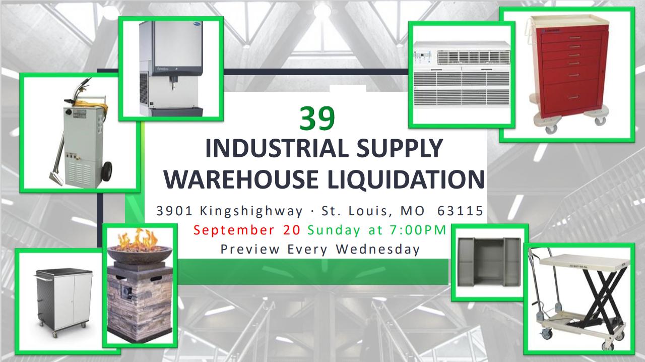 Industrial Supply Warehouse Liquidation #39