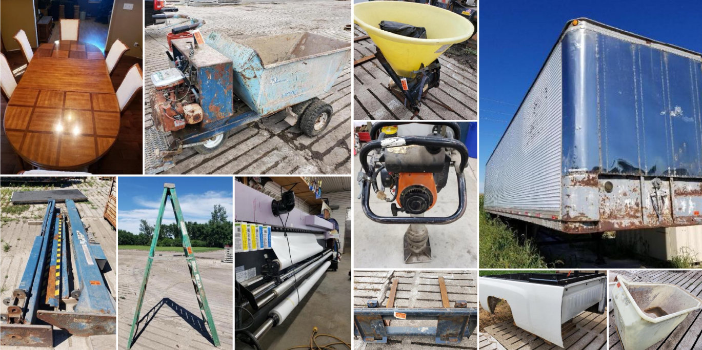 Trailers, Attachments, Auto Lifts, Ladders & Shop Equipment