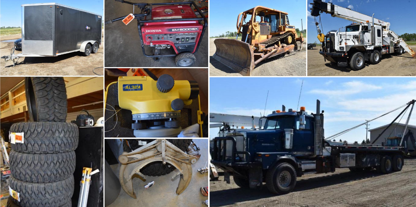 Construction Equipment, Generators, Pipe Wrenches, Threader and More