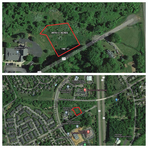 .4974 +/- Acres in the Planned Unit Development District of Warrenton, VA (Fauquier County)--ONLINE ONLY BIDDING!!