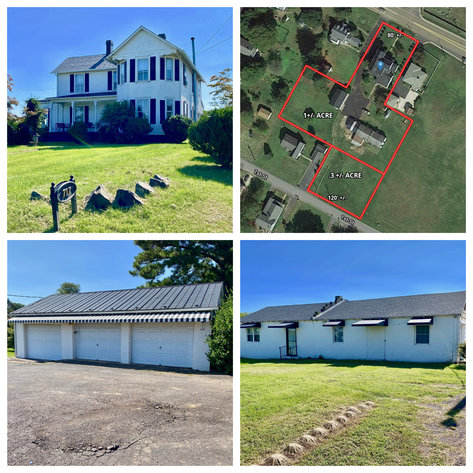 4 BR/2 BA Home on 1 Acre Lot w/Workshop & 3 Bay Garage Near Downtown Culpeper, VA
