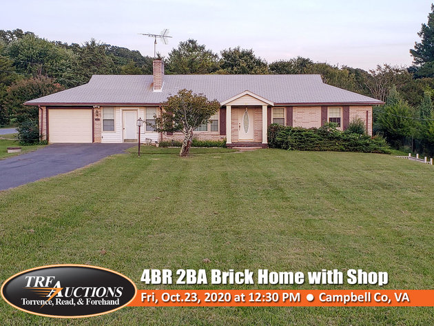 Brick Home with Shop in Altavista VA