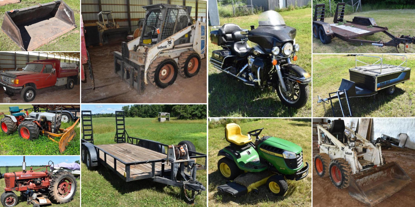 Moving Sale: Farm Machinery, Harley Davidson, Skid Loaders, Construction Tools, Hunting Gear, and Household Items Phase 1