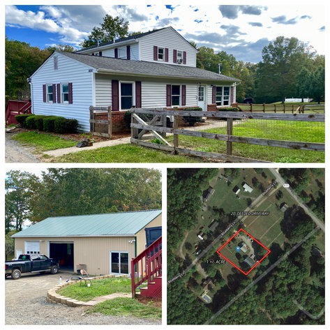 3 BR/2 BA Home w/1,800+ sf. Shop/Garage on 1 +/- Acre--Orange County, VA