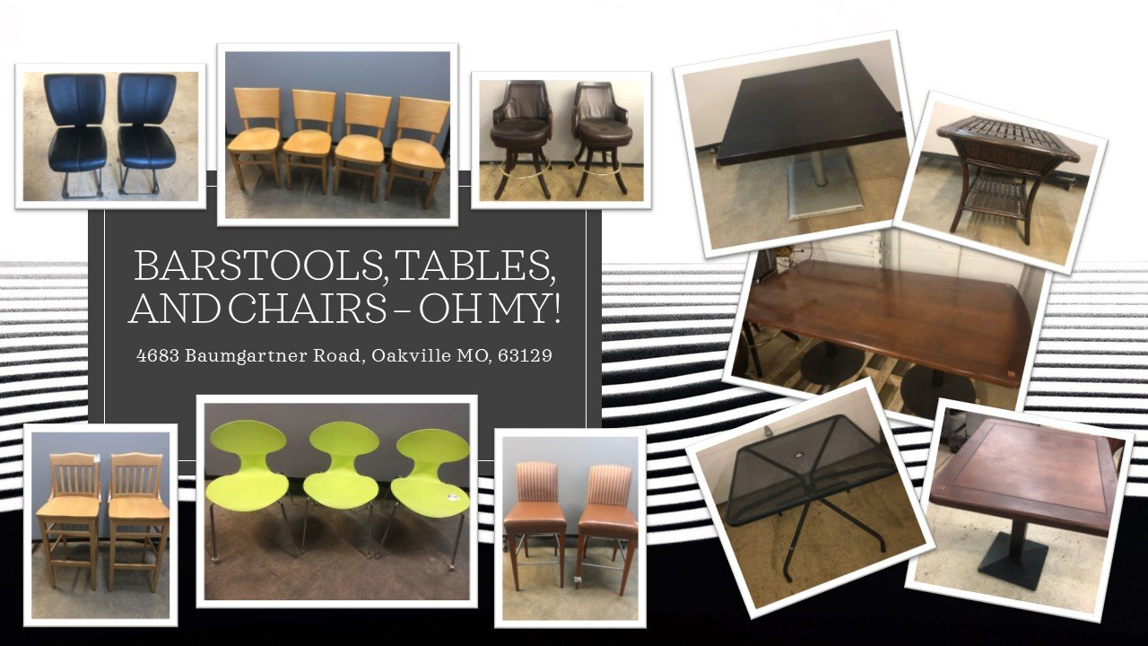 Barstools, Tables, and Chairs - Oh My!