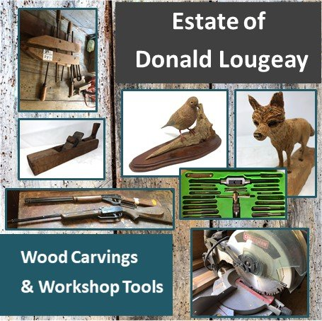 Estate Donald Lougeay - Wood Carving and Tools
