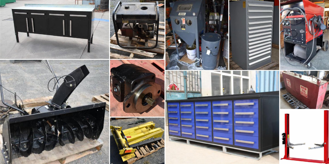 Heavy Duty Truck Shop Equipment, New Tent Buildings, New Tool Boxes & New Tires