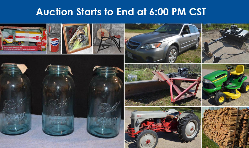 1948 8N Ford Tractor, 2008 Subaru Outback, JD LA125 Lawnmower, Trailers, Coins, Vintage Items, Tools, Household