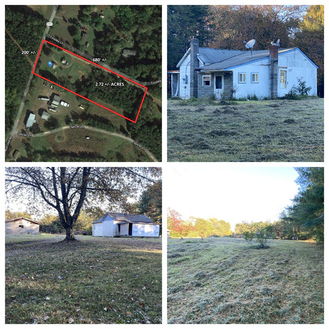 2.7 +/- Acre Building Lot w/2 BR Dwelling (In Need of Repair) in Orange County, VA --ONLINE ONLY BIDDING!!