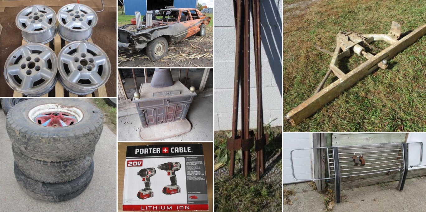 Vehicles, Farm Machinery, Tools, Tires and Rims