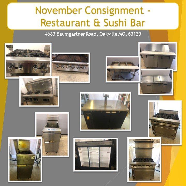 November Consignment - Restaurant & Sushi Bar
