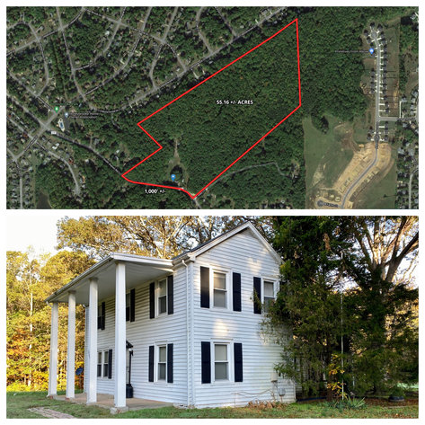 55.16 +/- Acres of Desirable Land Fronting Smith Station Rd. w/3 BR Home & Outbuildings in Spotsylvania County, VA--SELLING to the HIGHEST BIDDER!!