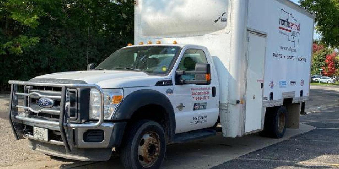 2012 Ford F-450, 2001 GMC C6500 Dock Truck, 1996 Chevrolet 2500, 2013 Chevrolet 1500 & 2002 Dodge Caravan Rollx Handicap Van