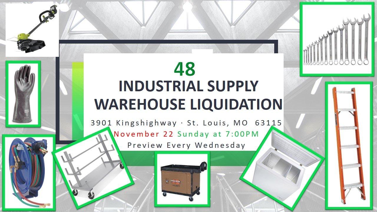 Industrial Supply Warehouse Liquidation #48
