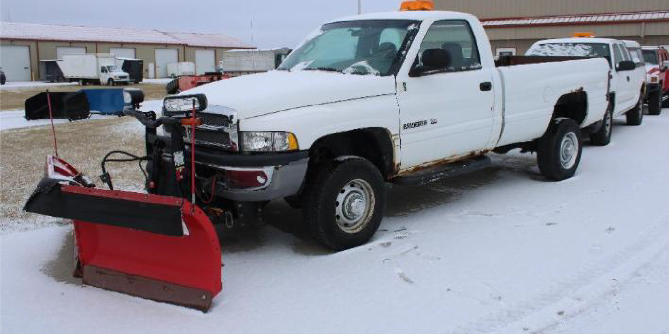 2002 Dodge 2500 With Boss Plow, 4-Post Lift, Snow Pushers, Vehicles, and More