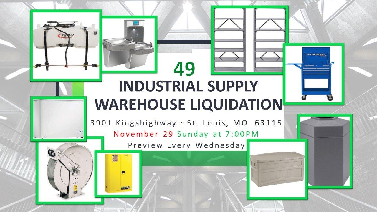 Industrial Supply Warehouse Liquidation #49