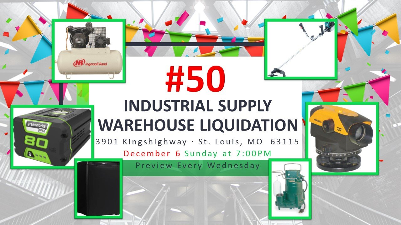 Industrial Supply Warehouse Liquidation #50