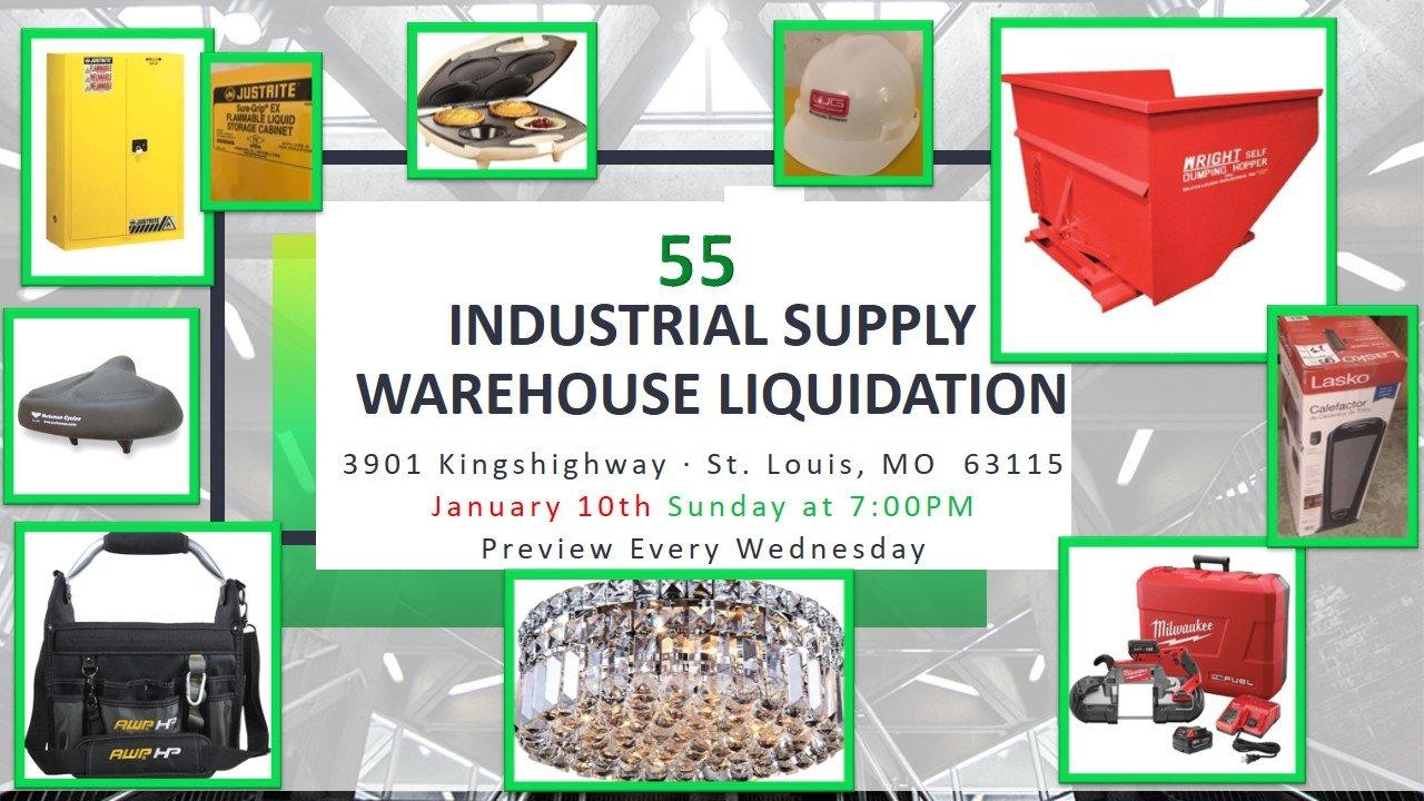 Industrial Supply Warehouse Liquidation #55