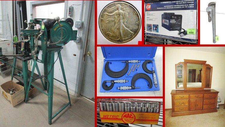Tools, Coins, Furniture and Household (green tag)