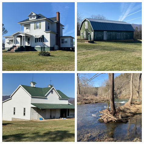 4 BR/3 BA Home on 20 +/- Acres w/Gorgeous Mountain Views, Multiple Barns/Outbuildings & Creek on Property--Page County, VA