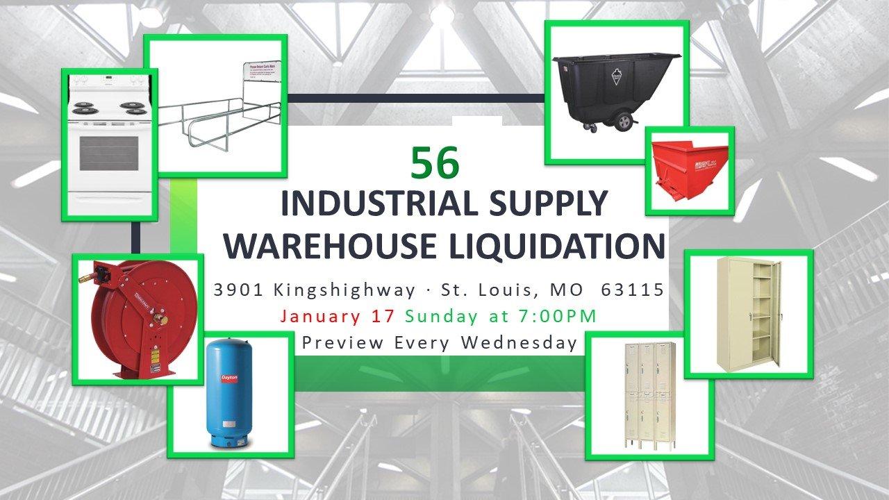 Industrial Supply Warehouse Liquidation #56